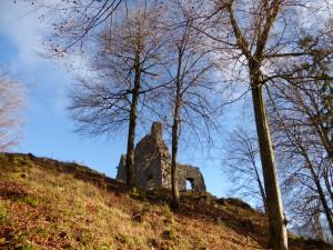 Die Reste der Burg Werdenfels